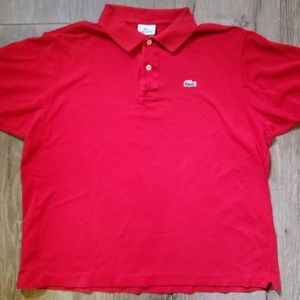 Vintage Lacoste red polo size 7